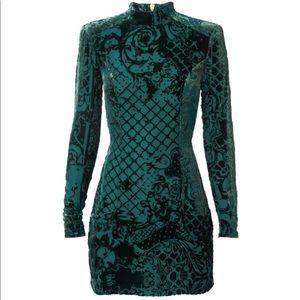 Balmain x HM Green Velvet Dress